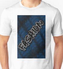 FASHION ON BLUE KNIT MINIMALIST POP ART - BLUE PERIOD Unisex T-Shirt