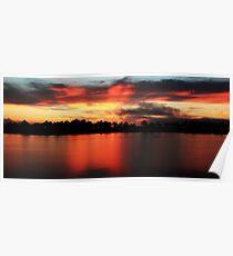 Sunrise at Webb lake Poster