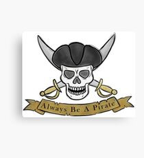 Pirate skull and cutlas illustration Canvas Print