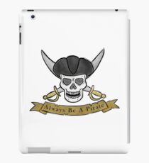 Pirate skull and cutlas illustration iPad Case/Skin