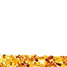 Amber abstract background made of small pieces lying at the bottom by Lukasz Szczepanski