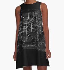 London Underground A-Line Dress