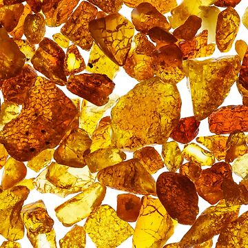 Amber abstract background made of small pieces by LukeSzczepanski