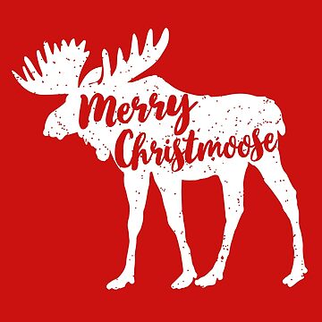 Funny Christmas Moose Pajamas Tshirt & Cute Xmas Gifts for Moose Lovers by teemaniac