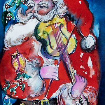 SANTA CLAUS PLAYING VIOLIN /  MUSICAL CHRISTMAS PARTY by BulganLumini