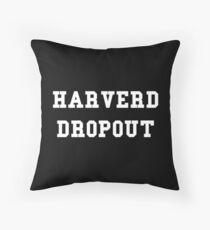 Harverd Dropout Throw Pillow