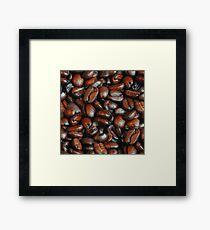 Coffee Beans Pattern Framed Print