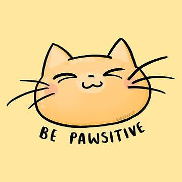 Sea Pawsitive - Sea positivo - Cat Illustration de sleepiest