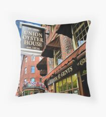 Ye olde Union Oyster House Throw Pillow