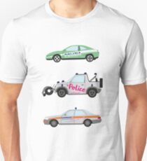 Clarkson, Hammond and May's Police challenge cars  Unisex T-Shirt