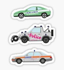 Clarkson, Hammond and May's Police challenge cars  Sticker