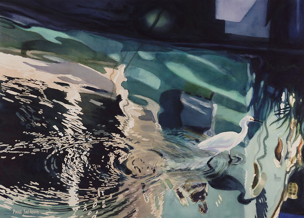 """Wading Sausalito"" Watercolor  by Paul Jackson"