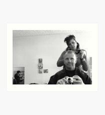 Hair Cut Art Print