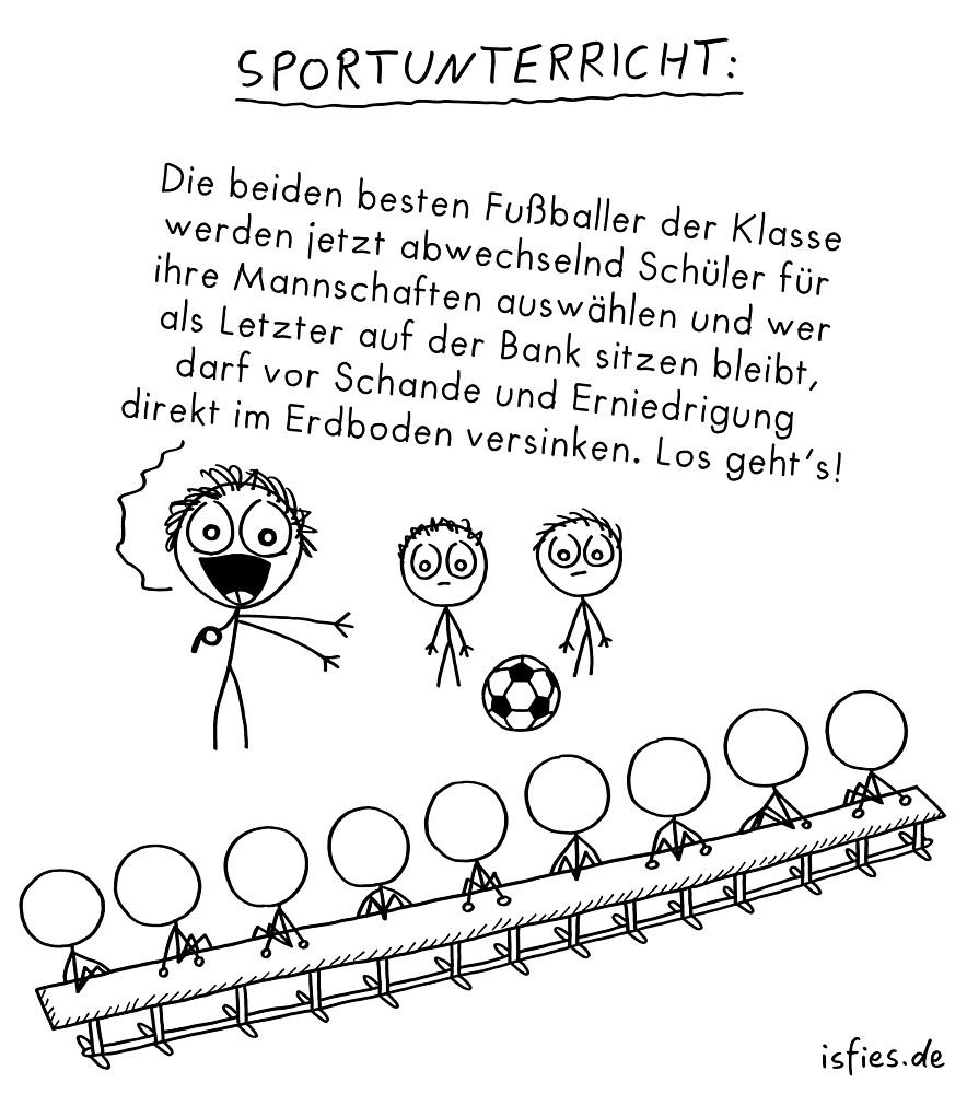 Sportunterricht isfies Comic von islieb