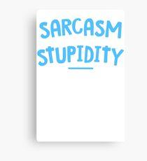Degree Sarcasm Mens Womens Hoodie / T-Shirt Canvas Print