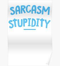 Degree Sarcasm Mens Womens Hoodie / T-Shirt Poster