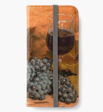 Bell and Howell with Black Grapes iPhone Wallet/Case/Skin