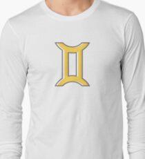 Gemini Zodiac Symbol - Yellow Long Sleeve T-Shirt