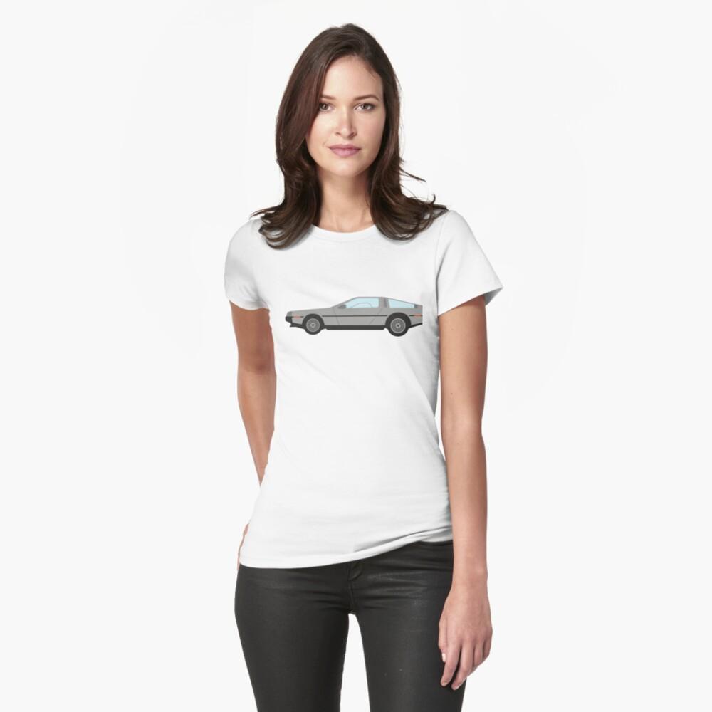 DeLorean DMC-12 Womens T-Shirt Front