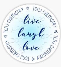 Live Laugh Love TCNJ CHem Sticker