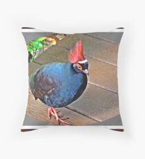 """ The Rouroul crested Partridge"" Throw Pillow"