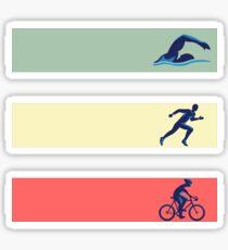 Vintage Swim Bike Run Triathlon T-Shirt Tee Gift Sticker