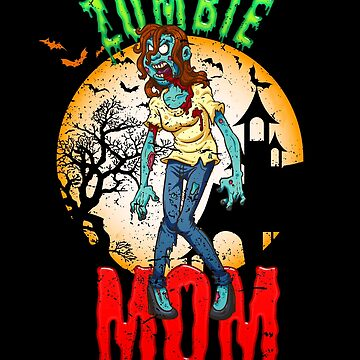 Zombie Mom Halloween Party Design for Mom by vintagetreasure