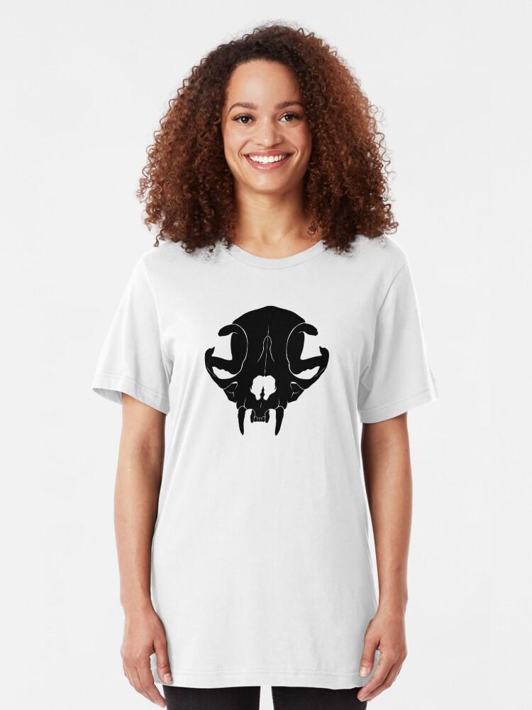 Alternate view of Cat Skull Slim Fit T-Shirt