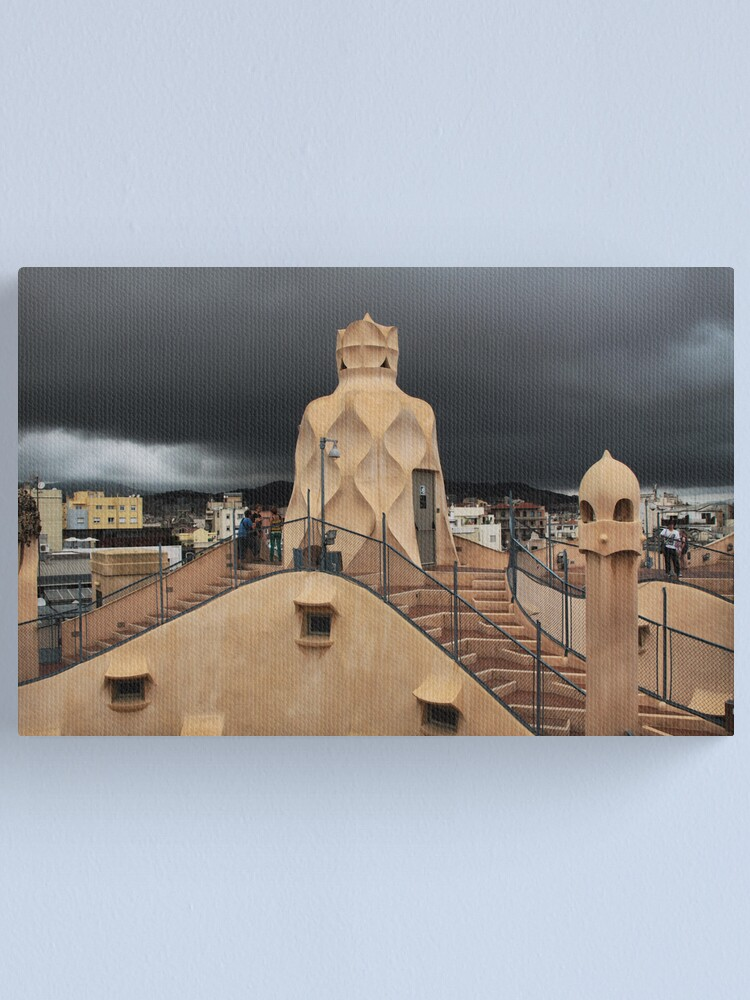 Alternate view of The Roof of the Apartments Canvas Print