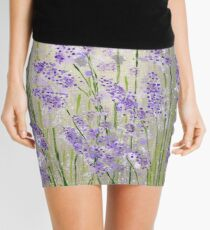 Lavender flowers Mini Skirt