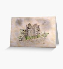 Brissac castle Greeting Card