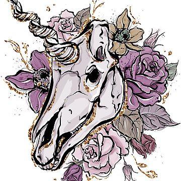 Flower Mane Unicorn by ScrivK