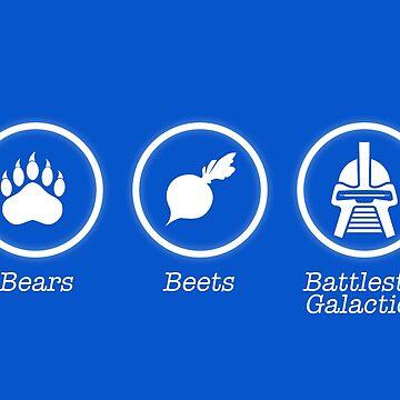 The Office US // Bears Beets Battlestar Galactica - Dwight Shrute Design by DesignedByOli