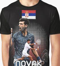 Tennis Novak DjokoVic Us Tshirt Graphic T-Shirt