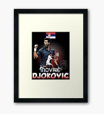 Tennis Novak DjokoVic Us Tshirt Framed Print