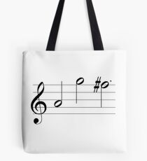 Newsies Santa Fe Musical Notes Tote Bag