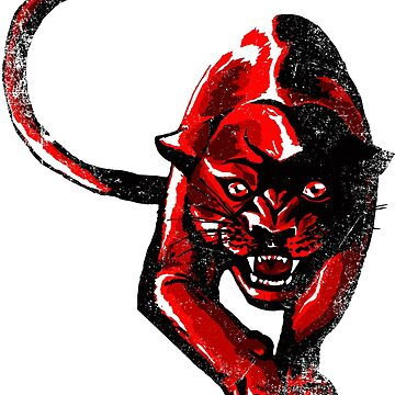 Blood red panther by Skady666