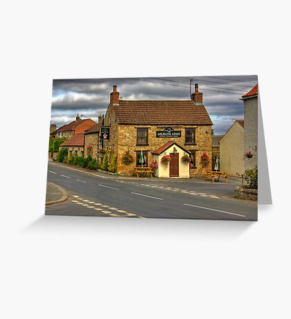 Milbank Arms - Well near Bedale Greeting Card