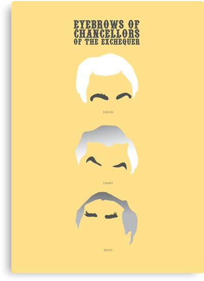 Eyebrows of Chancellors of the Exchequer by Stephen Wildish