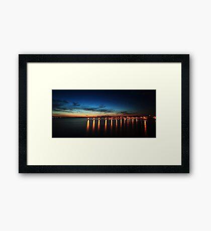 Laishley Park Fishing Pier Framed Print