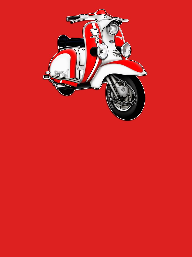 Scooter T-shirts Art: TV 175 Series 1 Mod style racer. by yj8dsk57