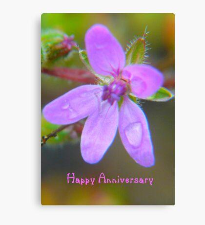 Anniversary Card Canvas Print