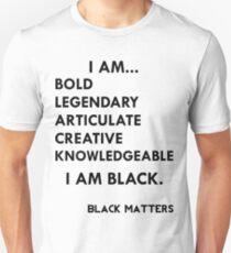 I AM BLACK Unisex T-Shirt