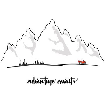 Adventure Awaits - Red Jeep by indicap