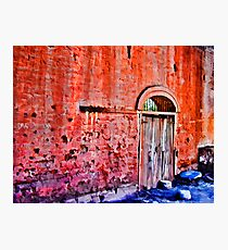 Red Wall With Graffiti Photographic Print