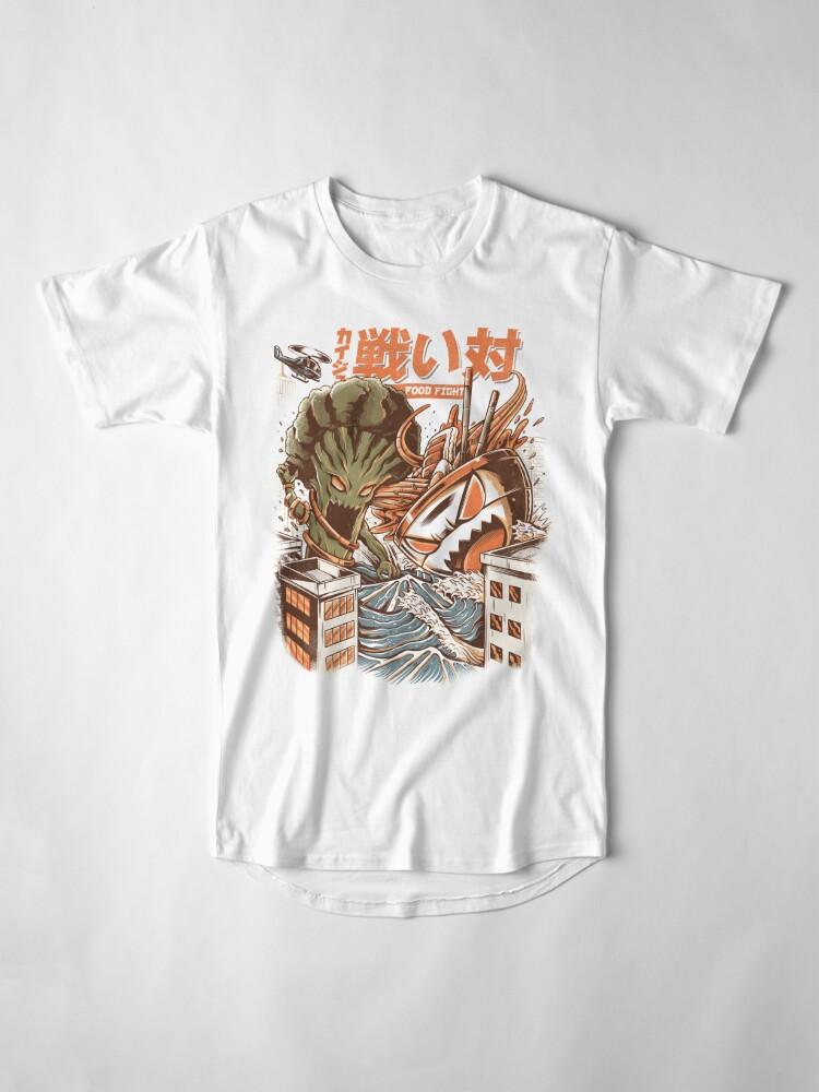 Alternate view of Kaiju Food Fight Long T-Shirt