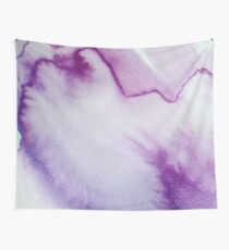 Purple Marbled Watercolor Wall Tapestry