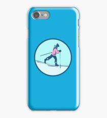CROSS COUNTRY SKI RUNER iPhone Case/Skin
