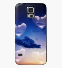 Surrealist romantic love hearts surreal sky multiple exposure Case/Skin for Samsung Galaxy