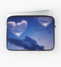 Surrealist romantic love hearts surreal sky multiple exposure Laptop Sleeve
